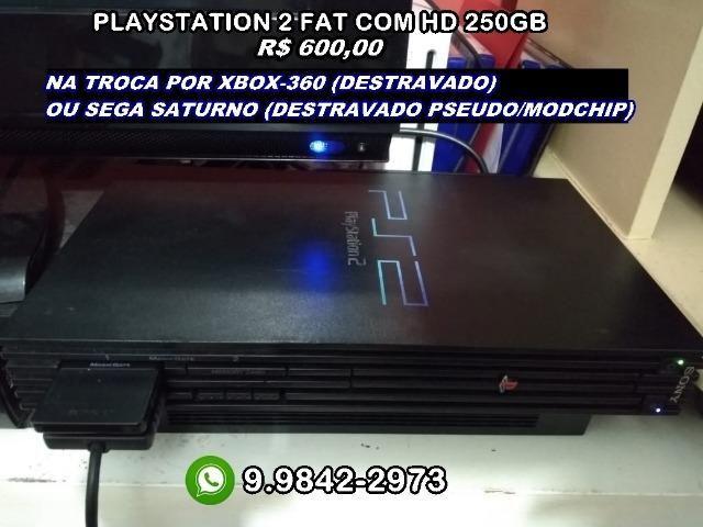 Playstation 2 fat scph-39001 (leia descrição)