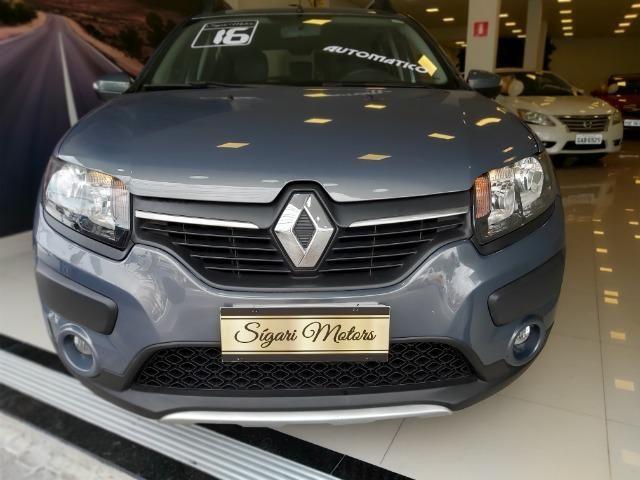 Renault Sandero 1.6 Stepway Flex 2016 Automático - imperdível- baixo KM!! - Foto 14