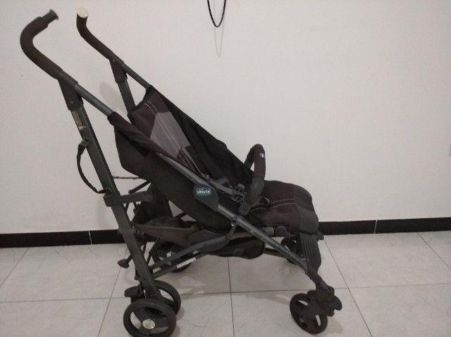 Carro Bebê Desmontável CHIcco Liteway com Guarda Chuva - Foto 4