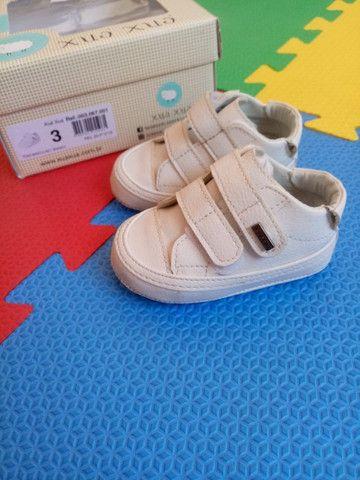 Tenis infantil masculino branco - Foto 2