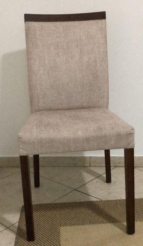 Mesa com 6 cadeiras e tampo de vidro de 12mm - Foto 3