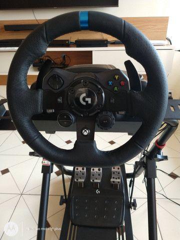 Volante logitech G923+cockpitextremeracing sxtv2-suporte- para volante