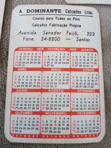 Calendários antigos lote 130 unds. - Foto 6