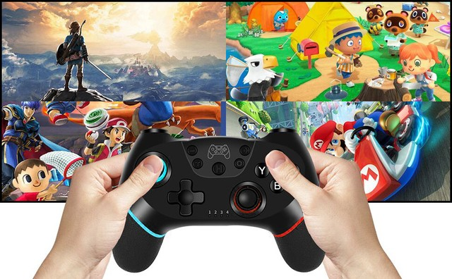 Controle Nintendo Switch Sem Fio Bluetooth Pro Controller Joystick - Foto 6