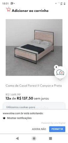 Sofa 2 lugares e cama de casal Etna - Foto 3