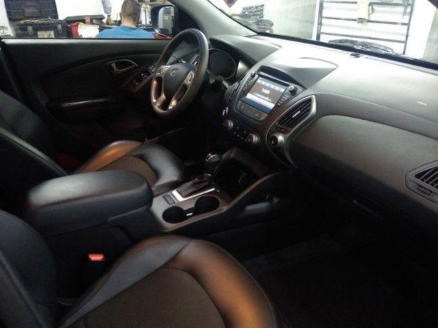 Hyundai IX35 GLS 2.0 16v Flex Autom Completo Couro DVD 2019 Preto - Foto 6