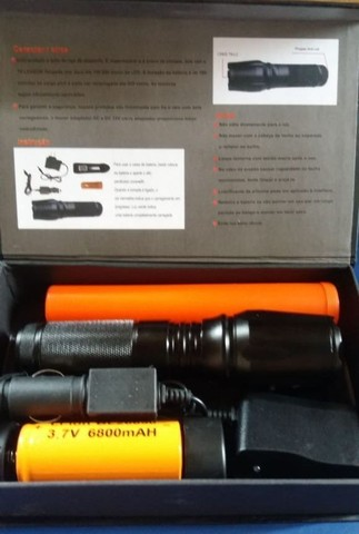 Lanterna tática militar x900 recarregável com zoom - Foto 2