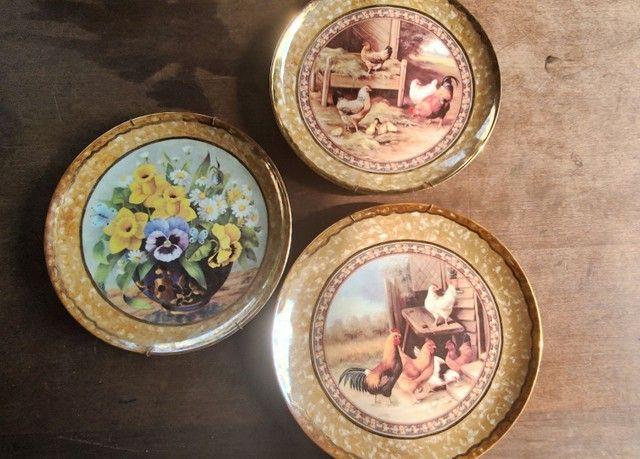 Pratos de porcelana pintado a mão - Foto 2