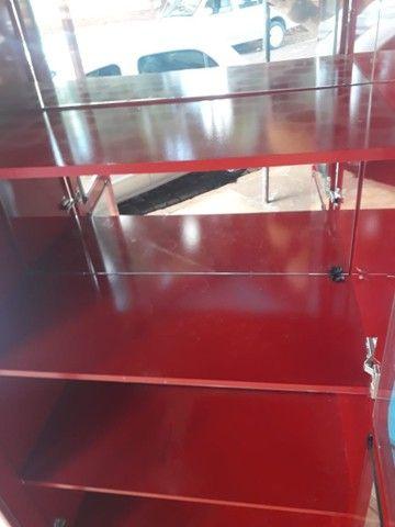 Cristaleira vermelha laca em mdf - Foto 5