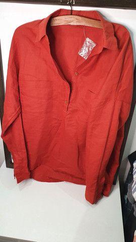 Camisa de linho nunca usada - Foto 3