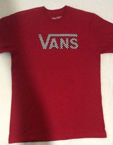 camiseta t-shirts by vans - vermelha - original - classic - p - pouco usado - Foto 2