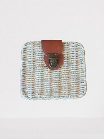 Bolsa Quadrada Palha - Foto 3