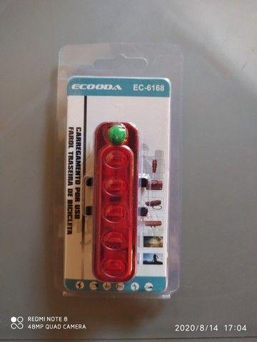 Lanterna Sinalizador Traseiro Bike Recarregável Usb Ecooda EC-6168 - Foto 4