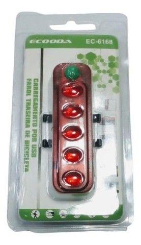 Lanterna Sinalizador Traseiro Bike Recarregável Usb Ecooda EC-6168 - Foto 2
