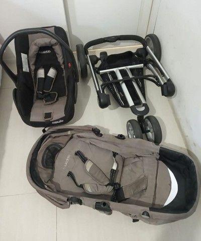 carrinho de bebê+ bebê confort +moisés / compass ii kiddo - Foto 2