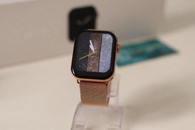 Relógio Inteligente Iwo FK78 Original Compatível com Android e iOS Rosê