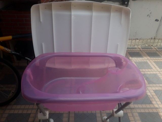 Berço 3em1 com colchão e uma banheira burigotto - Foto 4