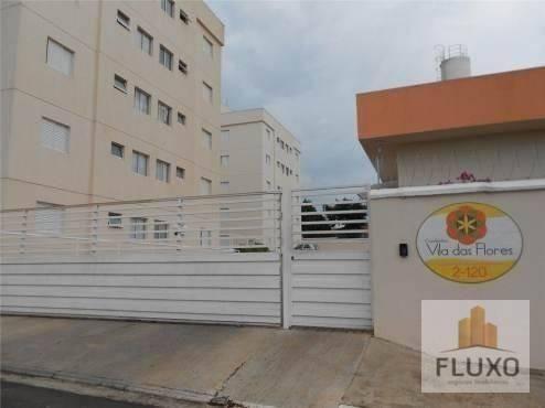 Apartamento com 2 dormitórios para alugar, 45 m² - jardim godoy - bauru/sp