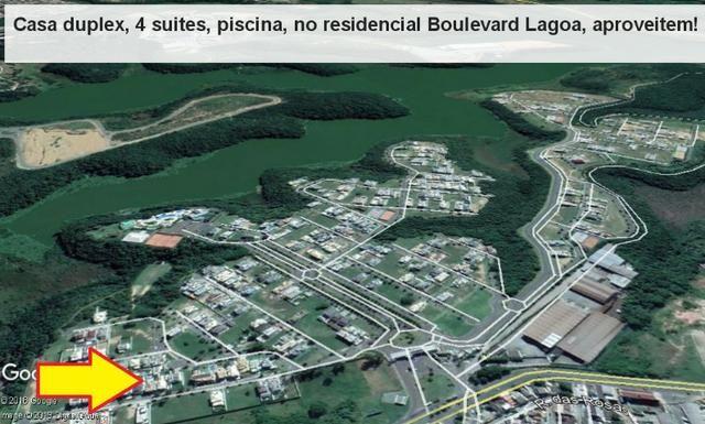 Casa duplex, 04 suítes, espaço gourmet c/ piscina, Boulevard Lagoa Residence &Resort - Foto 19