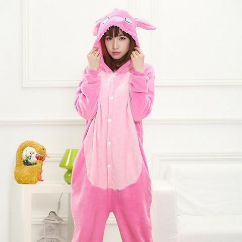 6eedb9f942bb6f Macacão Bebê Pijama Bichinho Fantasia Stitch Infantil