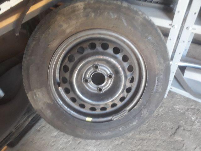 Roda 14 GM com pneu  meia vida