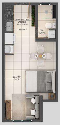 Apartamento á Venda 1 ou 2 quartos nos Bancários - Foto 5