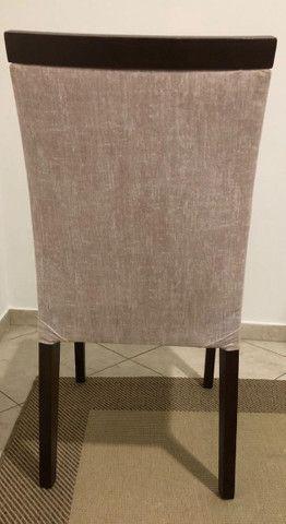 Mesa com 6 cadeiras e tampo de vidro de 12mm - Foto 4