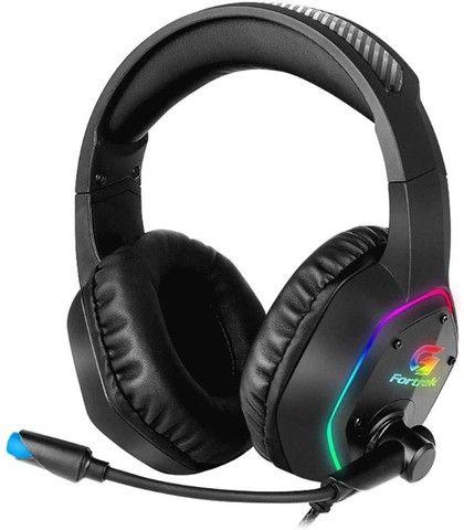 Headset Gamer RGB Blackfire Preto Fortrek NOVO - Foto 5