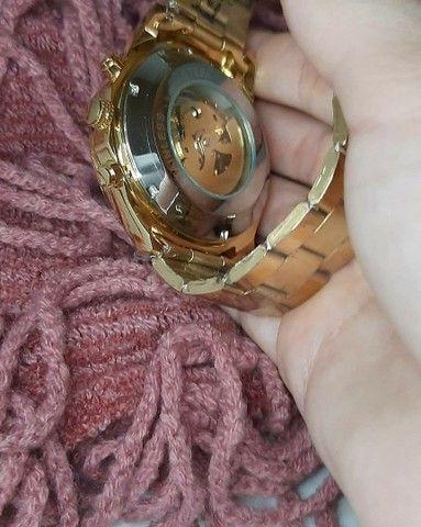 Relógio Top Pesado Original Foursining Dourado - Foto 5