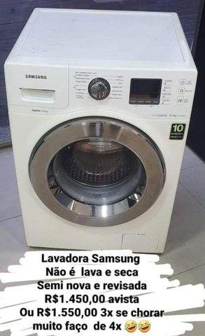 Vendo lavadora Samsung semi nova