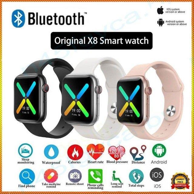 Promoção Dia Dos Pais Relógio Inteligente Smartwatch Iwo X8 + Película De Brinde