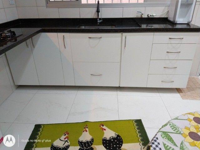 Gabinete+pia (pedra verde ubatuba) - Foto 4