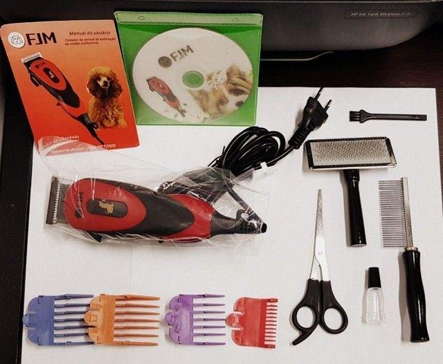 Kit maquina de tosa pet para cães e gatos - Foto 2