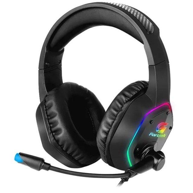 Headset Gamer RGB Blackfire Preto Fortrek NOVO - Foto 4
