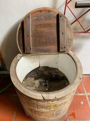 Máquina lavar roupa antiga madeira  - Foto 3