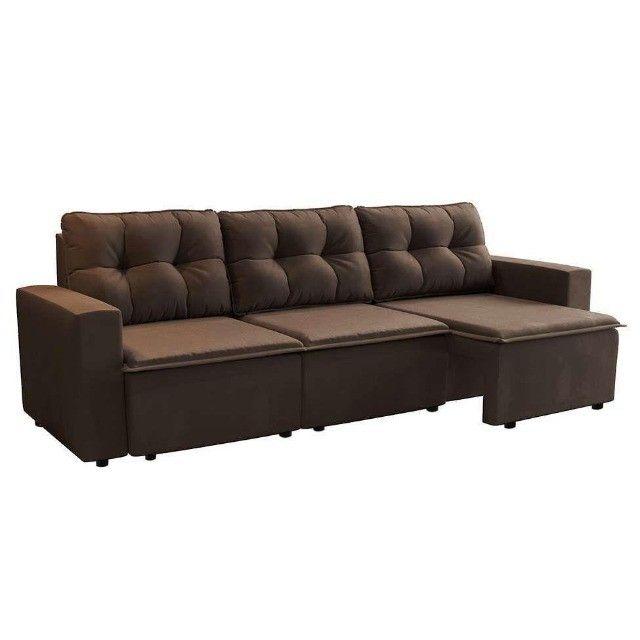 Sofa Retrátil 03 assentos Novo com Garantia
