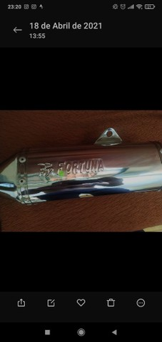 Escapamento Trioval Fortuna - Titan - Foto 6