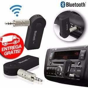 Receptor Bluetooth P2, Saída Auxiliar, Chamada Som Carro, Adaptador Musica -Novo- Entrega