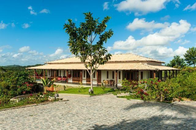 Casa de luxo 5 suites e wi-fi. 100 km de praia do Forte. Vista Paradisiaca - Foto 5
