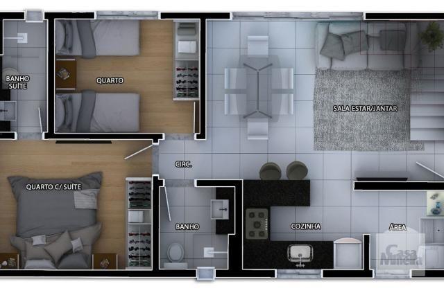 Apartamento à venda com 2 dormitórios em Caiçaras, Belo horizonte cod:268077 - Foto 3