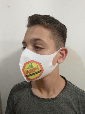 Kit 100 máscaras personalizadas , tecido neoprene - Foto 3