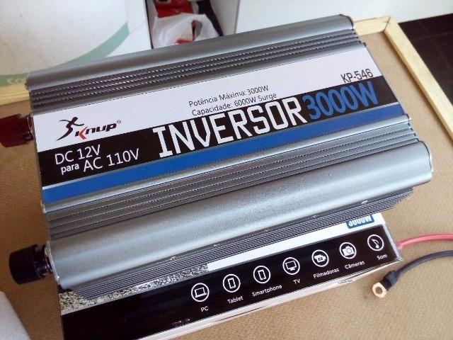 Inversor Conversor de Tensão 3000w 12v p/ 110v (Novo) - Foto 5