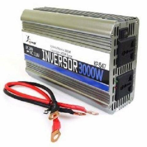 Inversor Conversor de Tensão 3000w 12v p/ 110v (Novo) - Foto 2