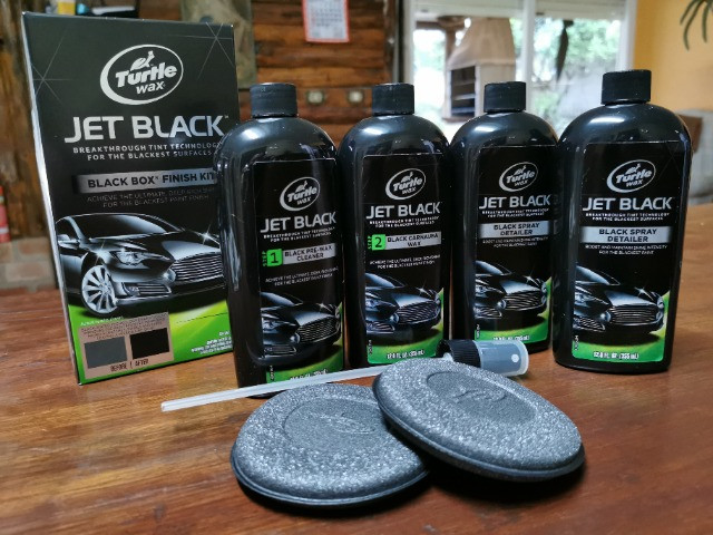 Cera Automotiva Kit Turtle Wax Jet Black Box Original - Carros escuros ou pretos!