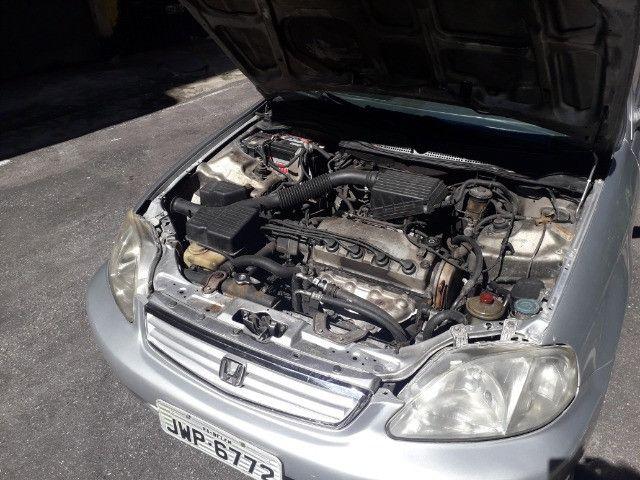 Honda/Civic LX 2000 1.6 Automático - Foto 8
