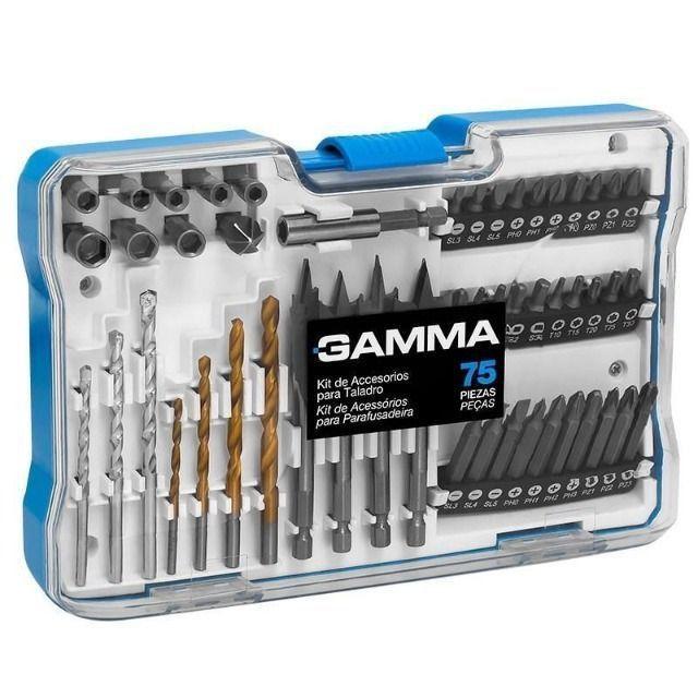 Kits de Acessórios para Furadeiras e Parafusadeiras - Kits com 27, 52 e 75 Peças - Gamma - Foto 6