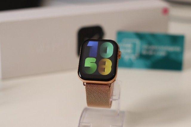 Relógio Inteligente Iwo FK78 Original Compatível com Android e iOS Rosê - Foto 6