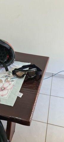 Capacete e óculos custom  - Foto 4