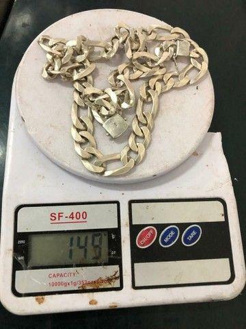 Corrente e pulseira de prata - Foto 4