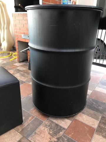 Tambor Oleo Preto 200 lts para Adega latão Ferro